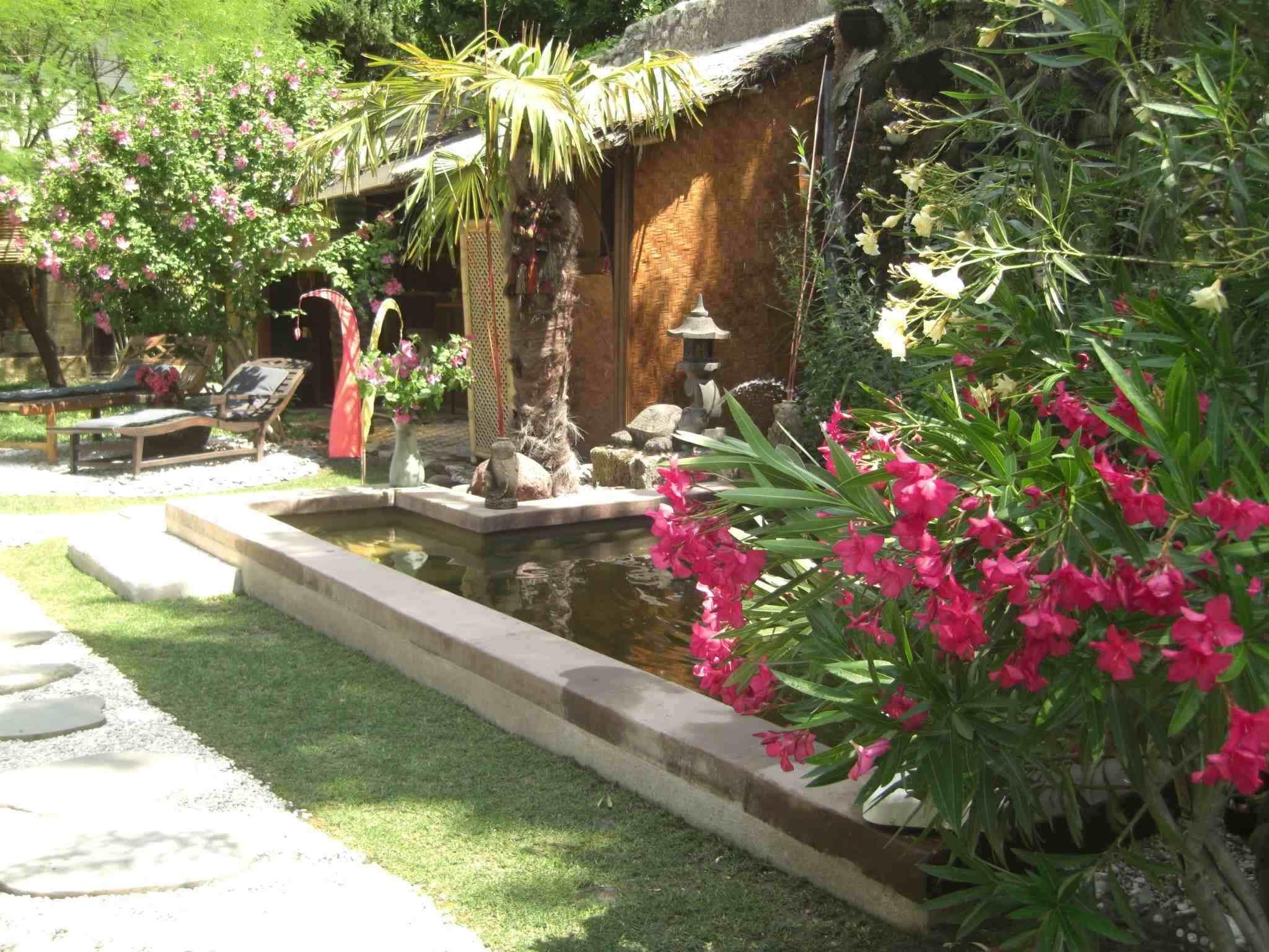 Photo Jardin Zen Chez Particulier le jardin partagé avec bassin et piscine en plein centre d
